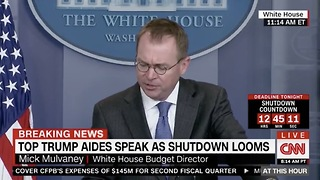 OMB Mulvaney Claims Obama Used Gov't Shutdown As Weapons Against Voters - Video