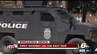 IMPD SWAT called after man barricaded inside home - Video