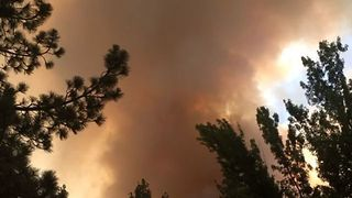 Smoke Billows From California's Cranston Fire - Video