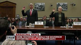 Testimony claims Snyder lied under oath on Flint - Video