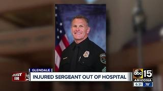 Glendale Sergeant shot by suspect recently released from hospital - Video