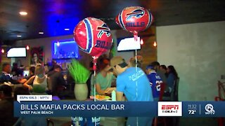 Bills Backers take over West Palm Beach bar
