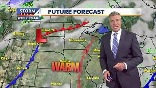 Mostly sunny and mild Tuesday