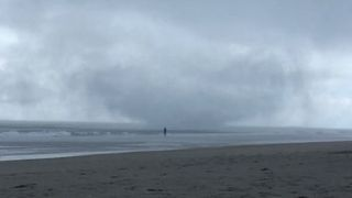 Waterspout Damages Beach Property in Surf City - Video