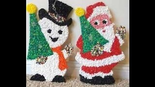 Vintage Popcorn Plastic Decorations