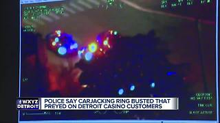 Police bust Detroit carjacking ring near casinos - Video