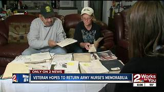 Veteran hopes to return army nurse's memorabilia to family - Video