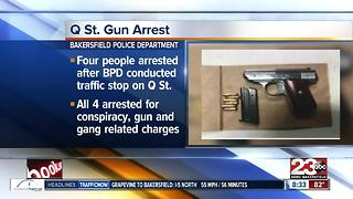 Traffic stop leads to four arrests - Video