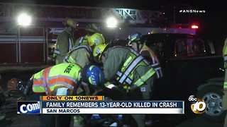 Family remembers 13-year-old killed in crash