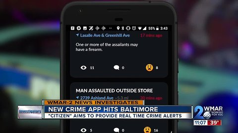 Real-time crime app hits Baltimore