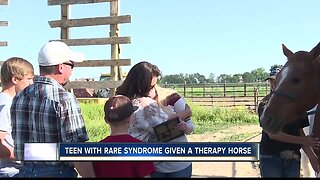 Teen surprised with therapy horse