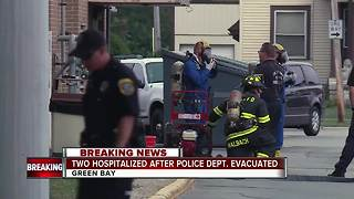 Hazmat crews investigating unknown substance inside Green Bay Police Department - Video
