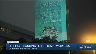 Display thanking healthcare workers