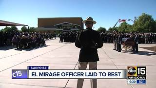 Community says goodbye to fallen El Mirage officer - Video