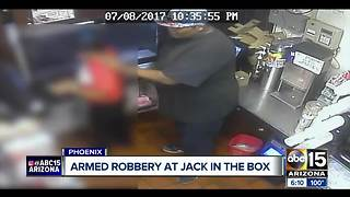 Robber targets Phoenix fast food restaurant - Video