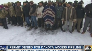 Army Corps of Engineers denies permit for Dakota Access Pipeline - Video
