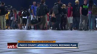 Pasco County school board votes to approve rezoning for six schools - Video