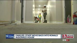 Families, staff move back into Ronald McDonald House - Video