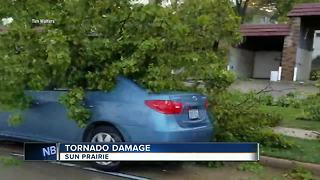 Tornado touches down on east of Madison, Sun Prairie - Video