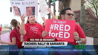 Sahuarita teachers, parents and students rally for education - Video