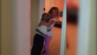 Little Girl Carries Her Tot Brother Out Of Her Room - Video