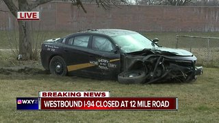 Westbound I-94 closed at 12 Mile Road