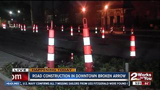 Road construction begins in Broken Arrow - Video