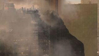 Fire Trucks Respond to Blaze at Trump Tower in Manhattan - Video