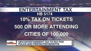 Would you pay a 10% tax on big event tickets to help first responders? - Video