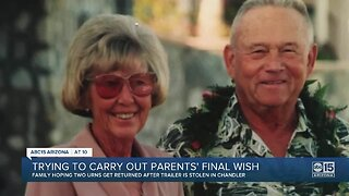 Brothers desperate for the return of their parents ashes