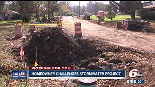 Homeowner challenges storm water project on Indianapolis' east side - Video