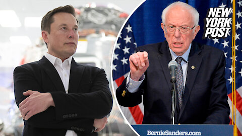 Elon Musk spars with Bernie Sanders over his massive fortune
