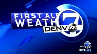 Clearing skies and cooler Sunday in Denver