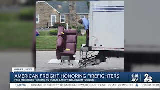 American Freight honoring firefighters