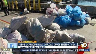 Coast Guard offloads seized cocaine