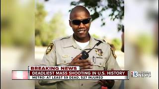 Las Vegas community mourns loss of off-duty officer following shooting - Video