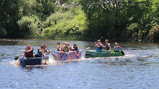 Cardboard Boat Races  - Video