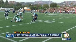 Prep football participation on the decline