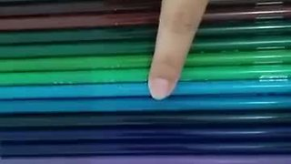 Oddly satisfying colored pencil illusion - Video