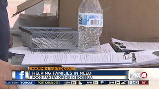Another food pantry opens up for families impacted by algae crisis in Lee County