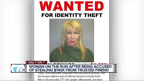 Metro Detroit woman wanted for identity theft, stealing from the older woman
