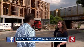 Bill Requires Construction Sites To Post Work Hours, Number For Complaints - Video