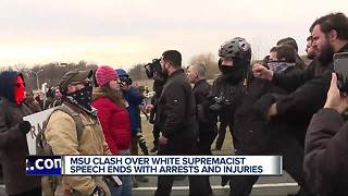 Violence erupts at white nationalist Richard Spencer's Michigan State University speech - Video