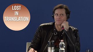 Jim Carrey calls his interpreter insane - Video