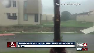 Senator Bill Nelson tackles options for hurricane victims - Video