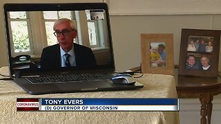 Gov. Evers speaks about COVID-19 and 14-day trends