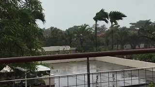 Typhoon Prapiroon Hits Okinawa Island - Video