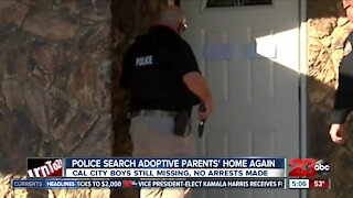 Authorities execute search warrant at home of missing California City boys with guns drawn