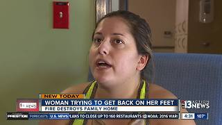Woman trying to get back on her feet after fire - Video