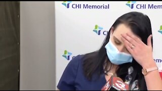 Nurse Passes out on Live Tv after taking Covid19 Vaccine